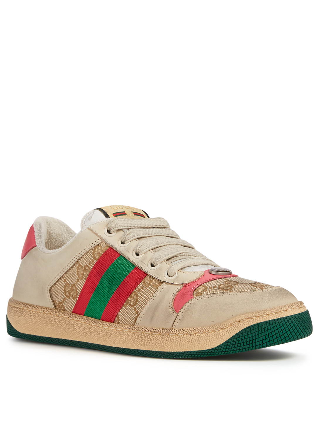 GUCCI Screener GG Canvas And Leather Sneakers Women's Multi