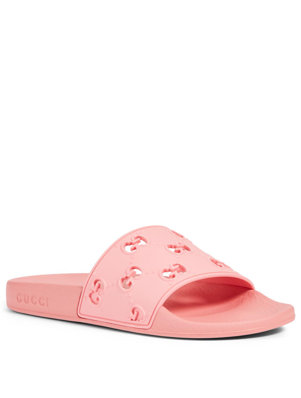 8783c88d3 ... GUCCI Pursuit GG Rubber Slide Sandals Women's ...