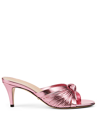 0cffc47fd9 GUCCI. Crawford Metallic Leather Heeled Sandals