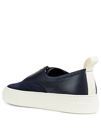 COMMON PROJECTS Four Hole Leather And Suede Sneakers Women's Blue