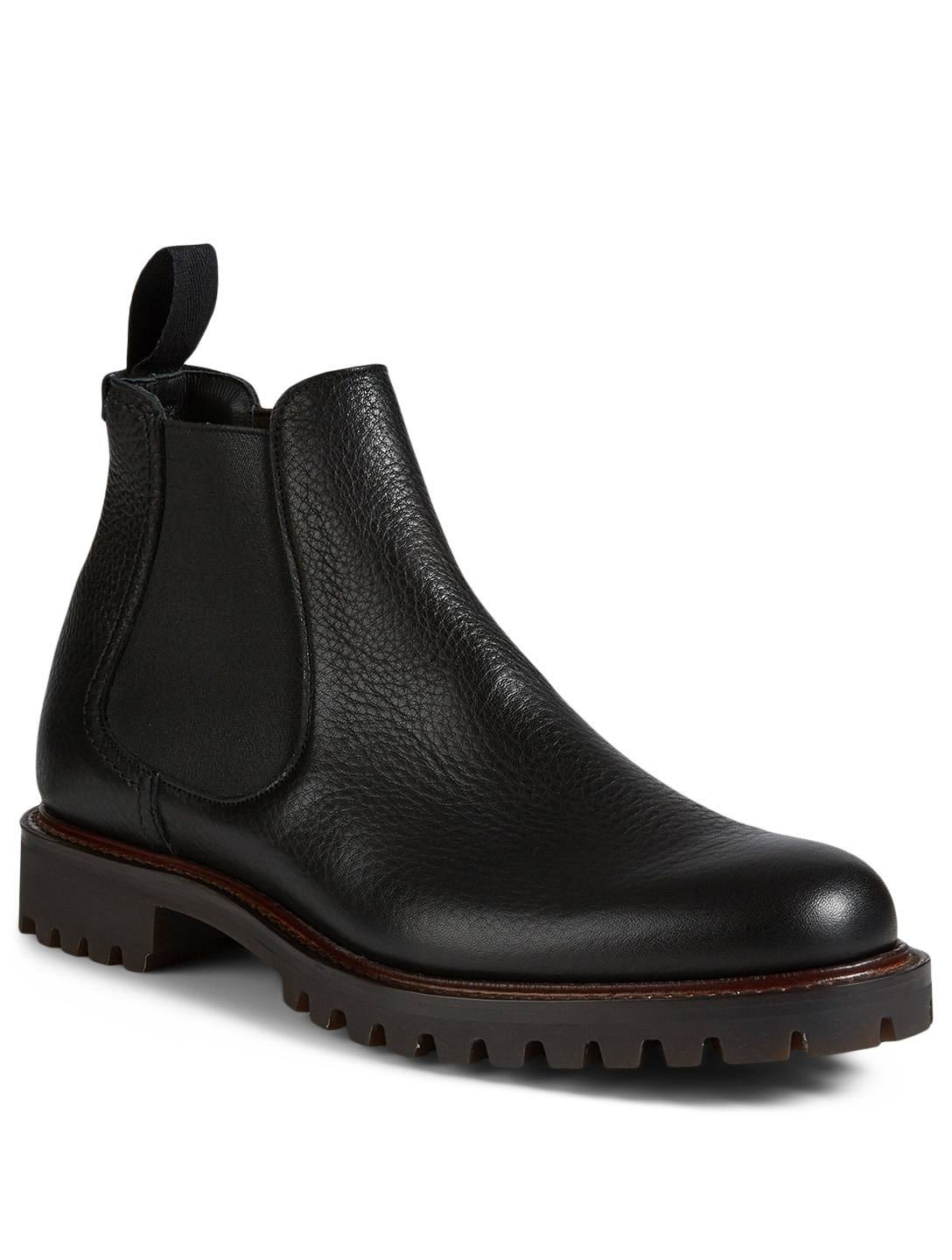 CHURCH'S Cornwood Grained Leather Chelsea Boots Men's Black
