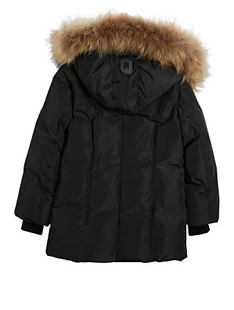 MACKAGE Leelee Kids Down Coat With Fur Collar Kids Black