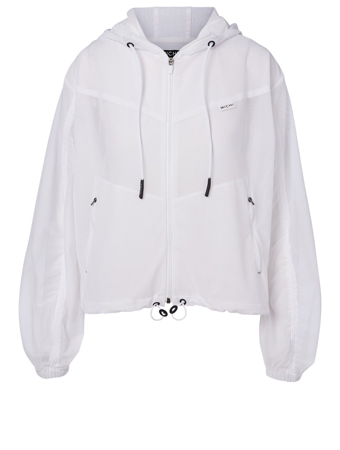 MICHI Indy Workout Jacket With Hood Women's White