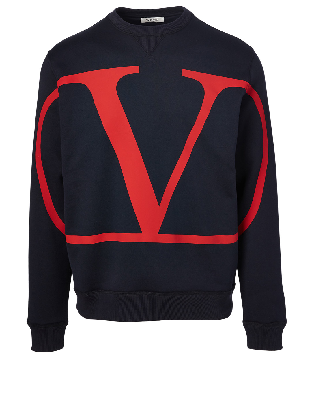 VALENTINO Cotton-Blend V-Logo Sweatshirt Men's Blue