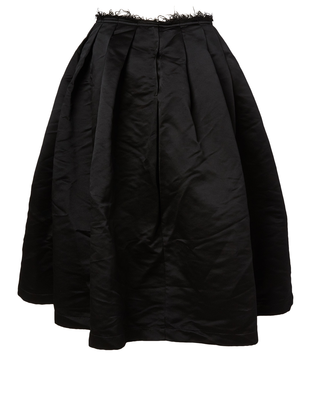 COMME DES GARÇONS Satin Pleated Skirt With Frayed Detail Women's Black