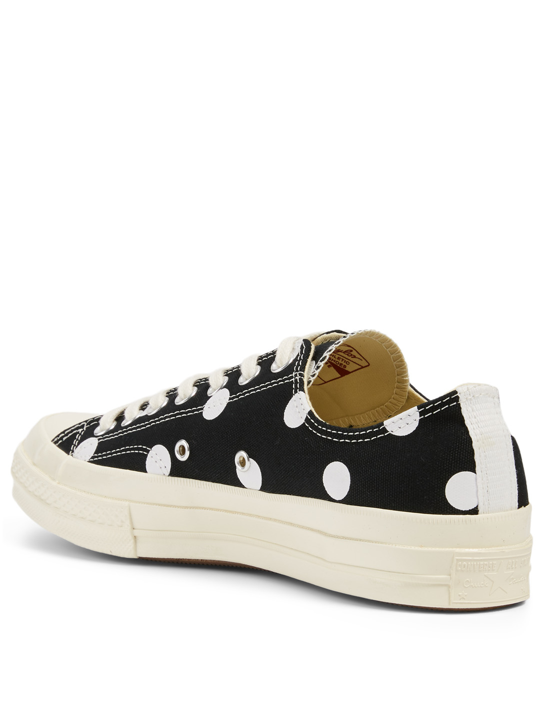 COMME DES GARÇONS PLAY Converse x CDG PLAY Chuck Taylor '70 Canvas Sneakers In Polka Dot Men's Black