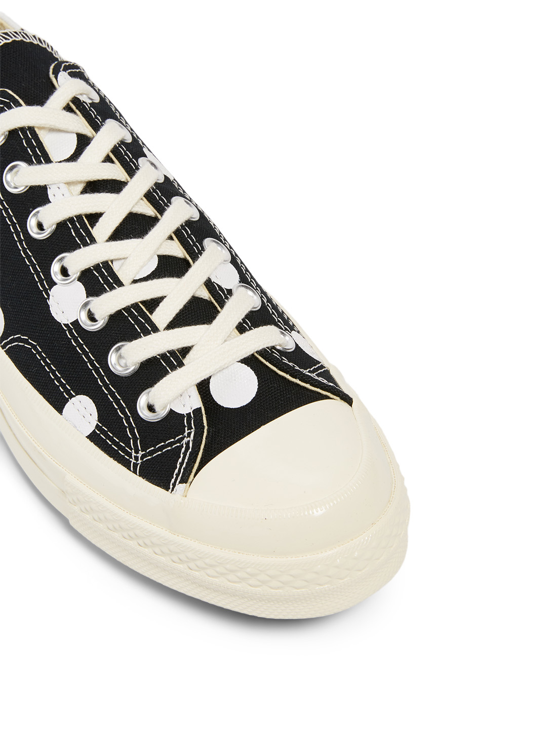 COMME DES GARÇONS PLAY CONVERSE X CDG PLAY Chuck Taylor '70 Sneakers In Polka Dot Men's Black