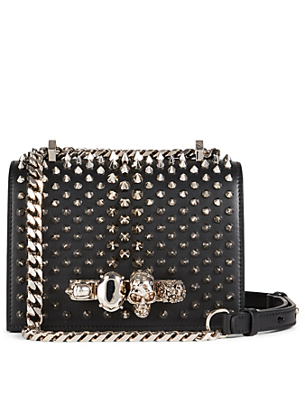 ALEXANDER MCQUEEN Small Leather Jewel Bag With Studs Women's Black