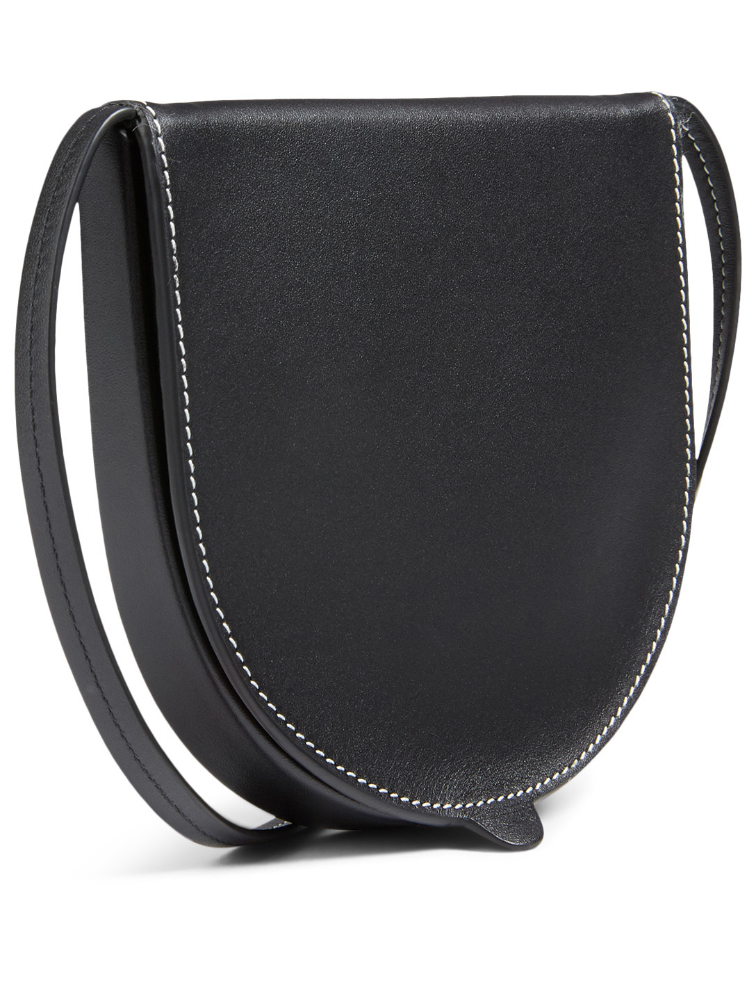 LOEWE Small Heel Leather Pouch Bag Women's Black