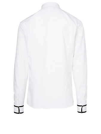 BALMAIN Cotton Piping Shirt Men's White