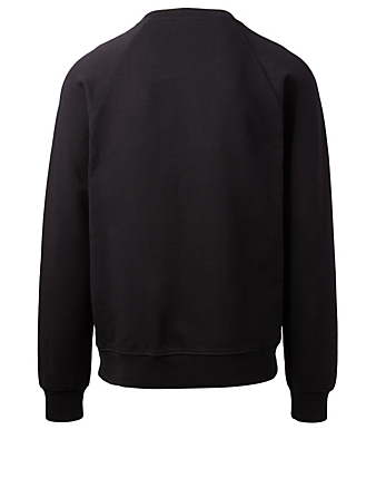 BALMAIN Cotton Logo Sweatshirt Men's Black