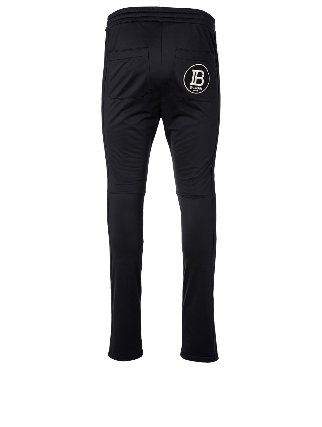 BALMAIN Logo Drawstring Sweatpants Men's Black