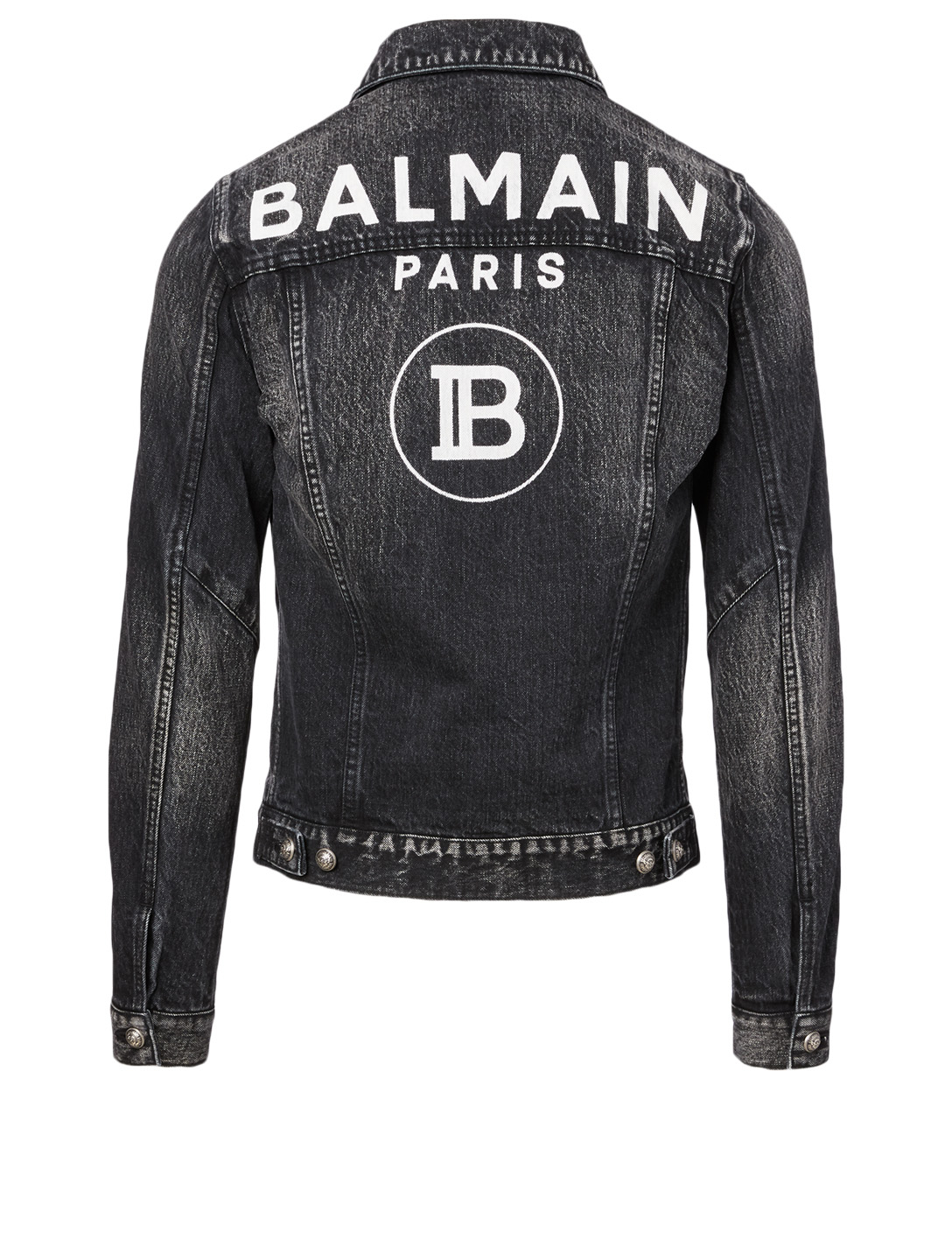 BALMAIN Cotton Denim Jacket Men's Black
