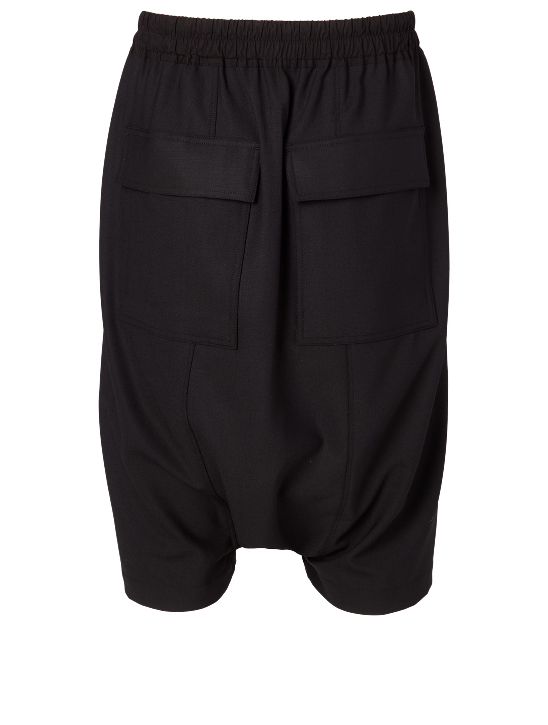 RICK OWENS Wool-Blend Shorts Men's Black