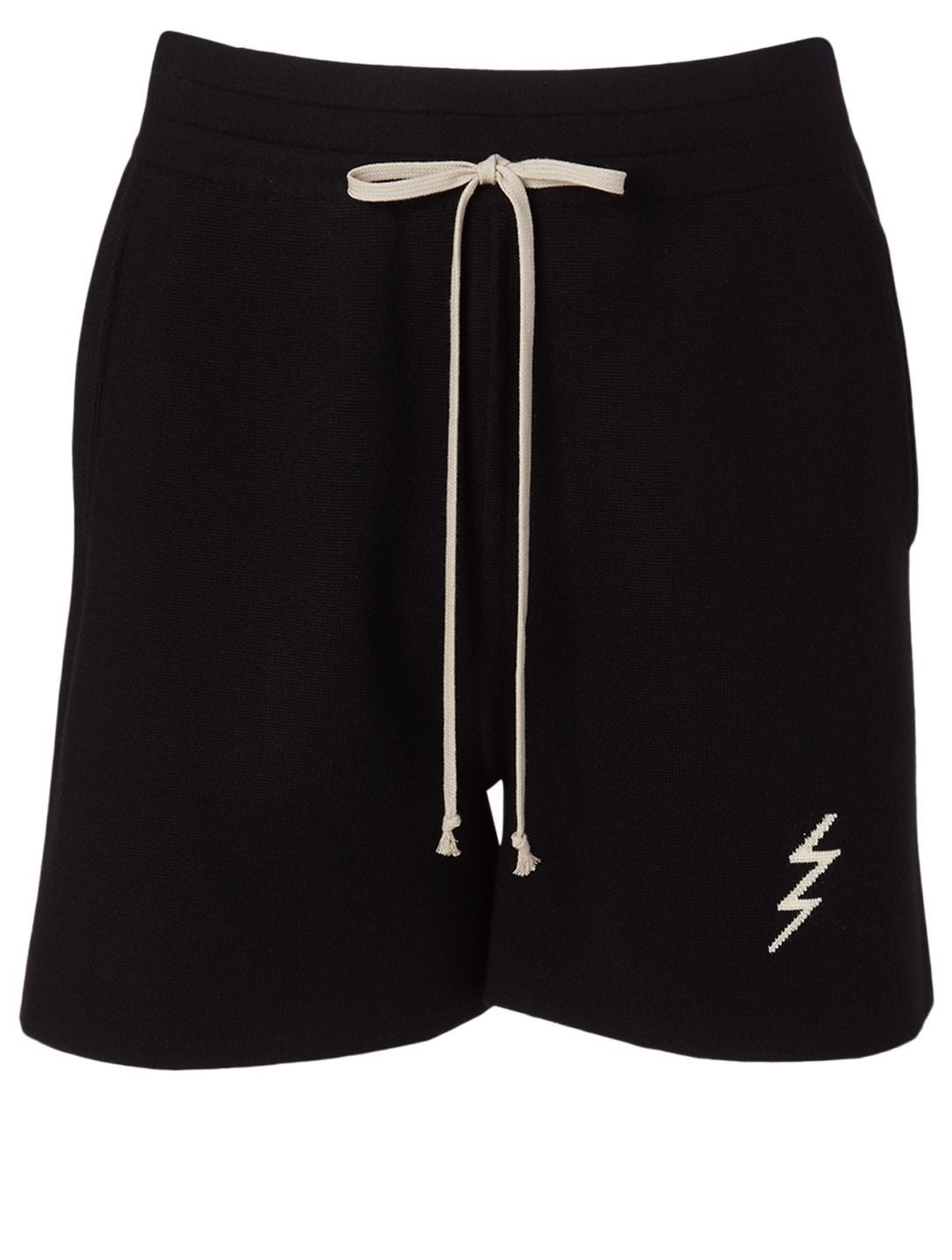 RICK OWENS Cashmere Bolt Shorts Men's Black