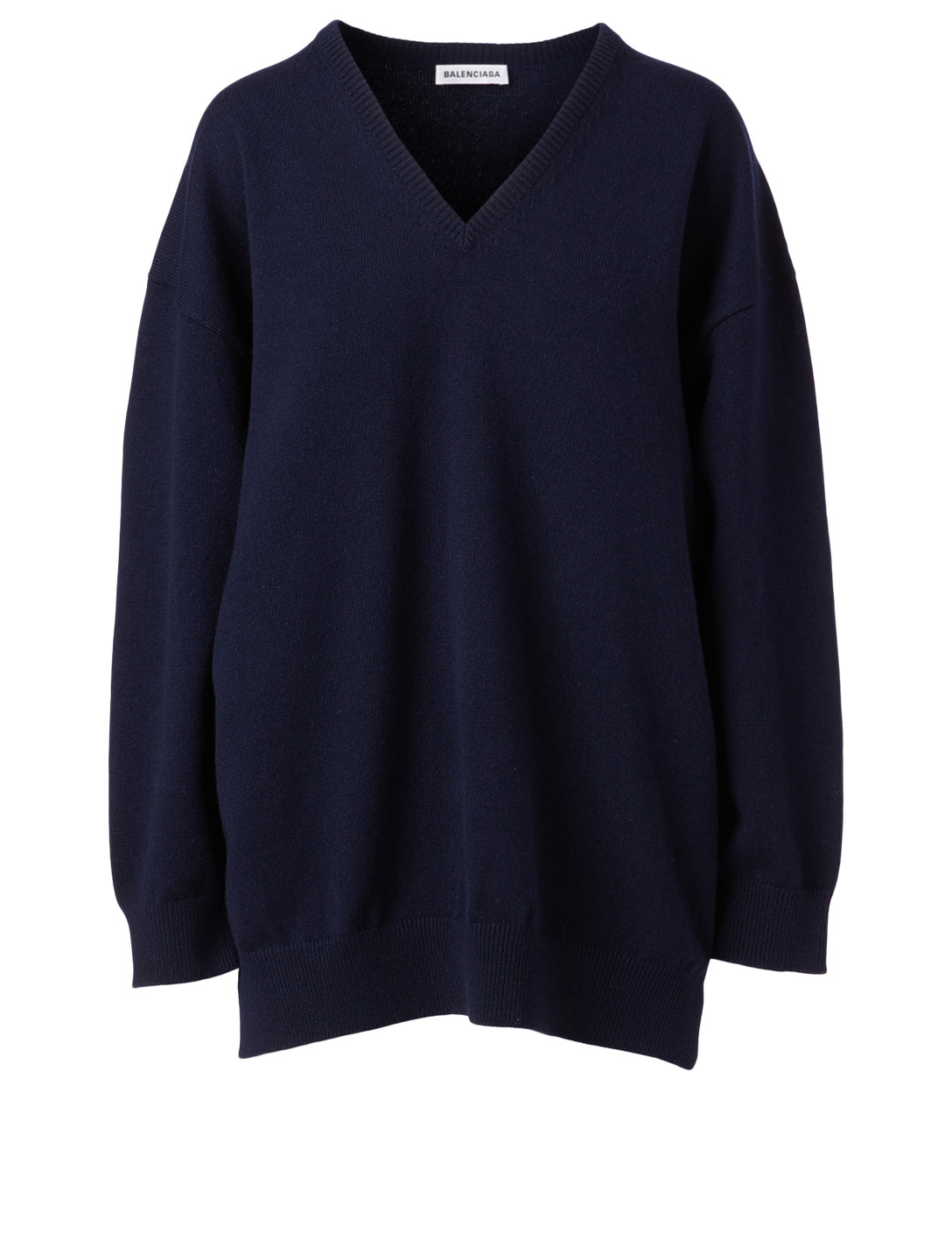 BALENCIAGA Cashmere Signature Logo Sweater Women's Blue