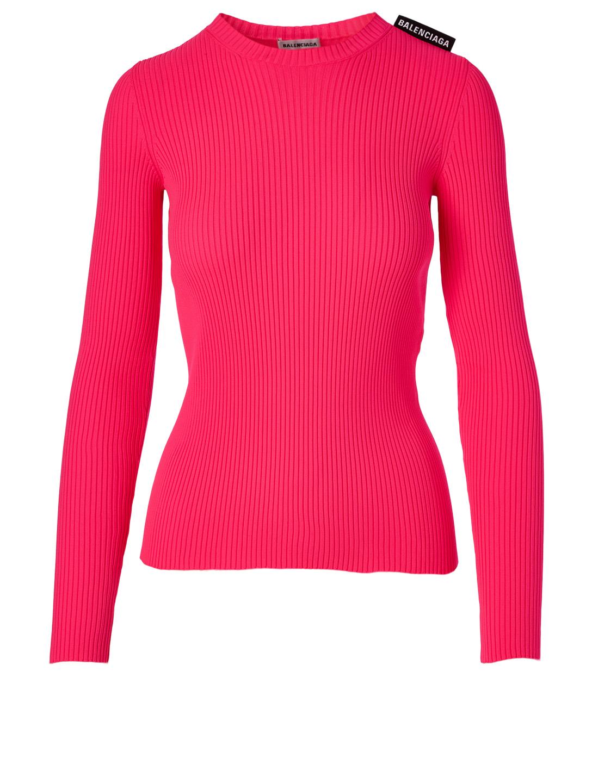 8ccc31e77f825 BALENCIAGA Ribbed Long-Sleeve Sweater | Holt Renfrew