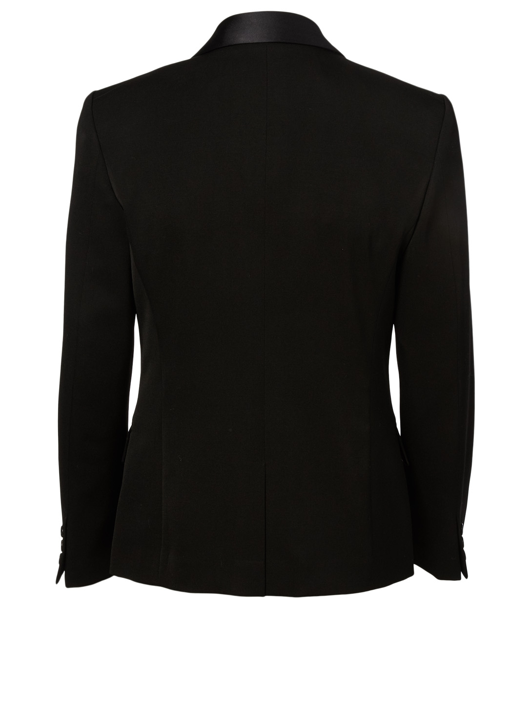 JUNYA WATANABE Silk Shawl Lapel Wool Blazer Women's Black