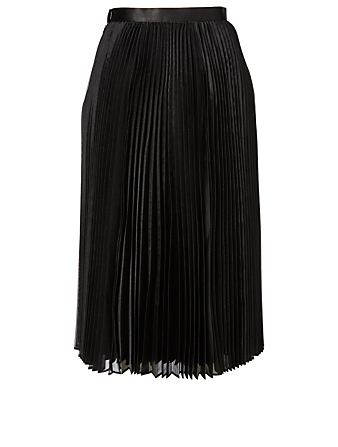 JUNYA WATANABE Satin Pleated Midi Skirt Women's Black
