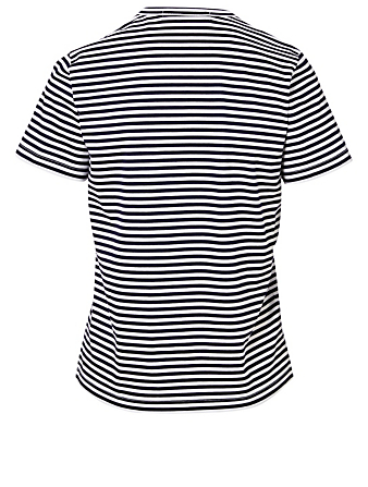 JUNYA WATANABE Strike Back Printed T-Shirt With Stripes Women's Black