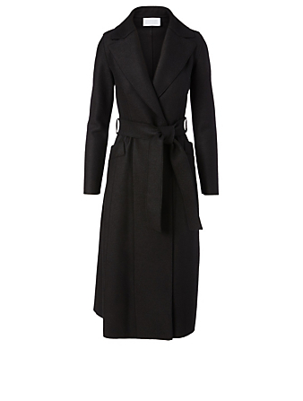 HARRIS WHARF LONDON Wool Long Coat Women's Black