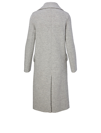 HARRIS WHARF LONDON Wool Double-Breasted Midi Coat Women's Grey