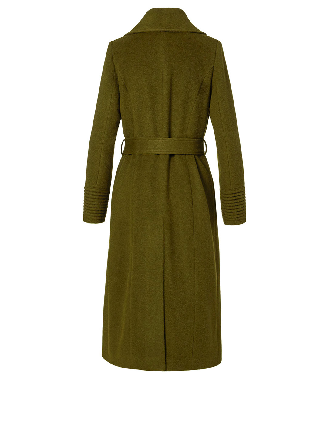 SENTALER Alpaca Long Wrap Coat Women's Green