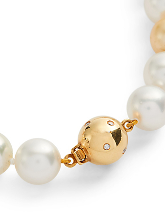 YOKO LONDON 18K Gold Multicolour Pearl Necklace With Diamonds Women's White