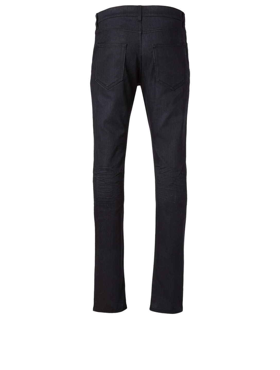 SAINT LAURENT Cotton Skinny Jeans Men's Black