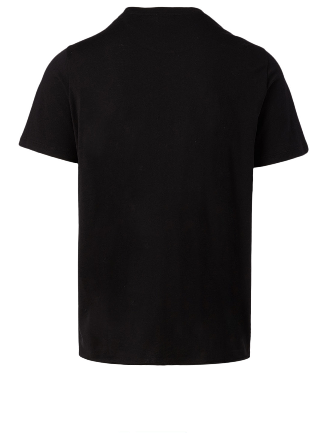 SAINT LAURENT Cotton Logo T-Shirt Men's Black