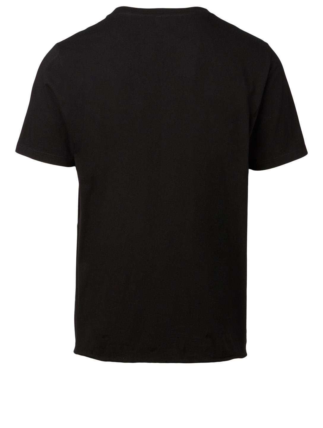 SAINT LAURENT Cotton T-Shirt With Poster Logo Men's Black
