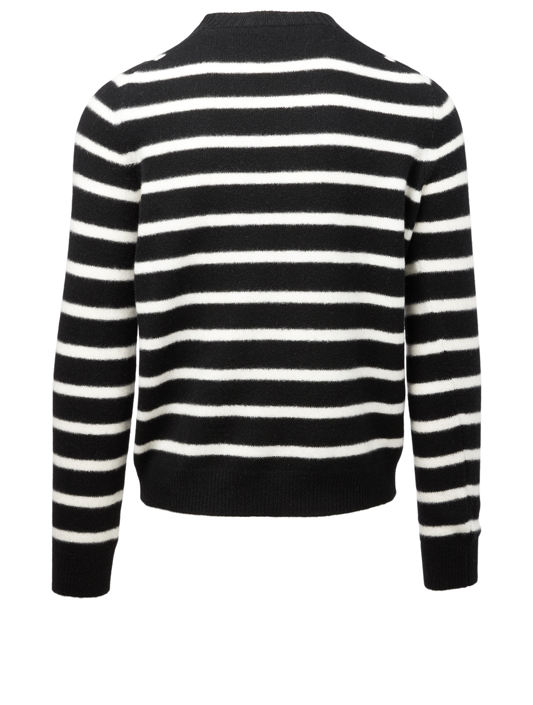 SAINT LAURENT Wool Sweater In Stripe Print Men's Black