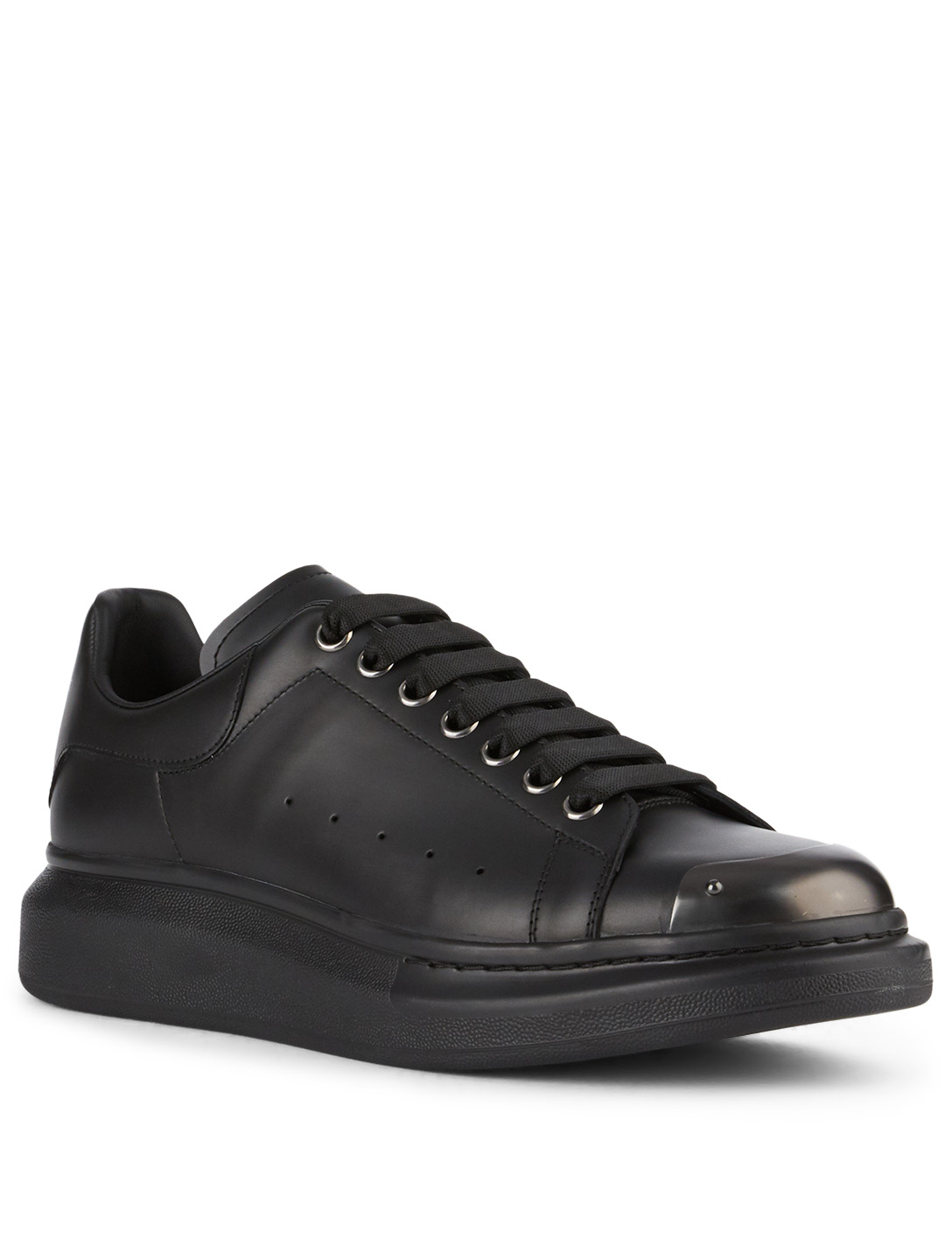 ALEXANDER MCQUEEN Oversized Leather Sneakers Men's Black