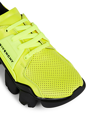 GIVENCHY Jaw Perforated Leather Sneakers Men's Yellow