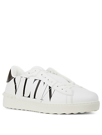 VALENTINO GARAVANI VLTN Open Leather Sneakers Men's White