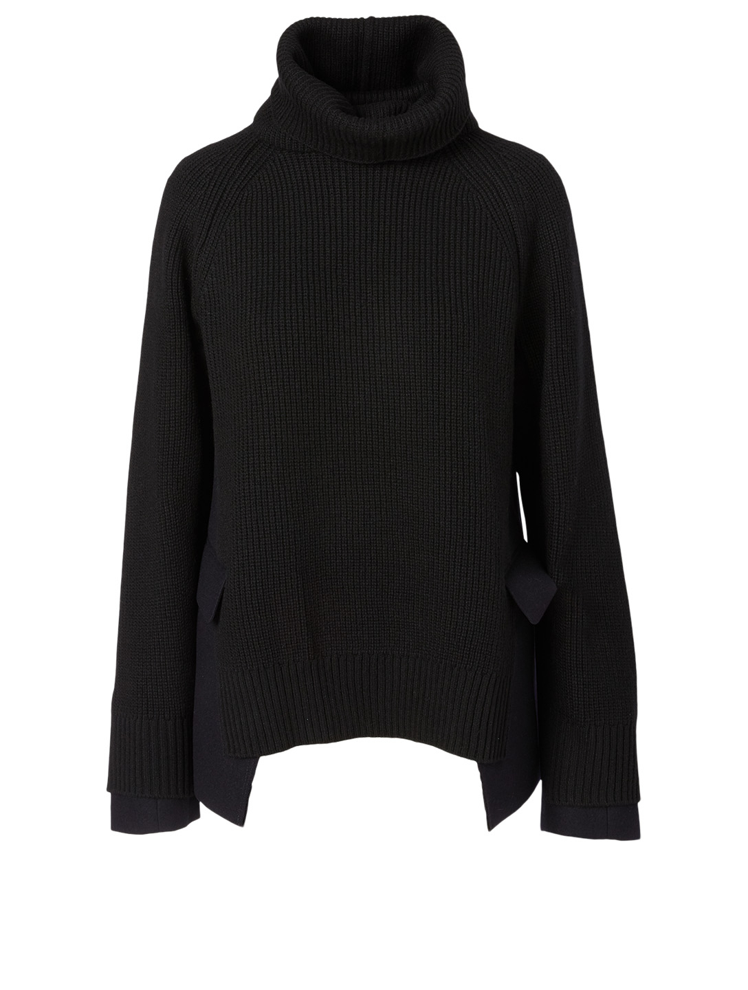 SACAI Wool Turtleneck Sweater Women's Blue
