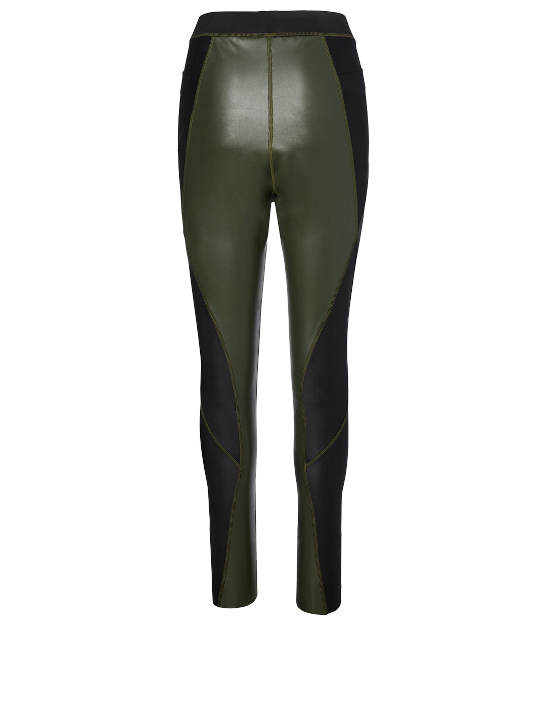SACAI Faux Leather Leggings Women's Green