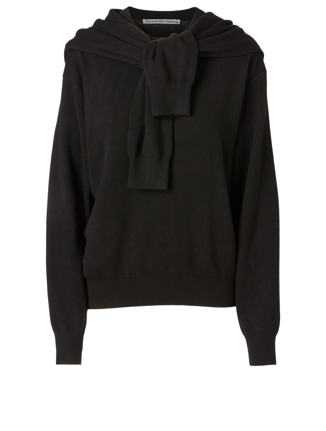 ALEXANDER WANG Wool And Cashmere Shoulder Tie Sweater Women's Black