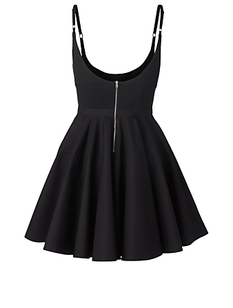 ALEXANDER WANG Cotton Ribbed Dress Women's Black