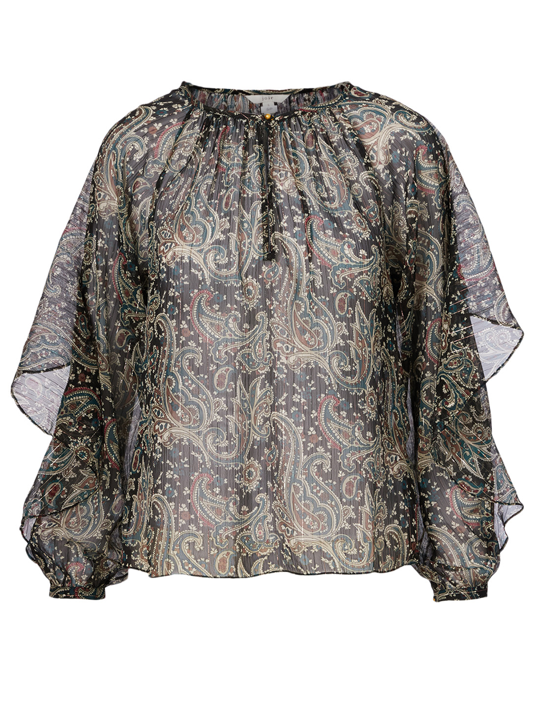 JOIE Kriston Printed Blouse Women's Black