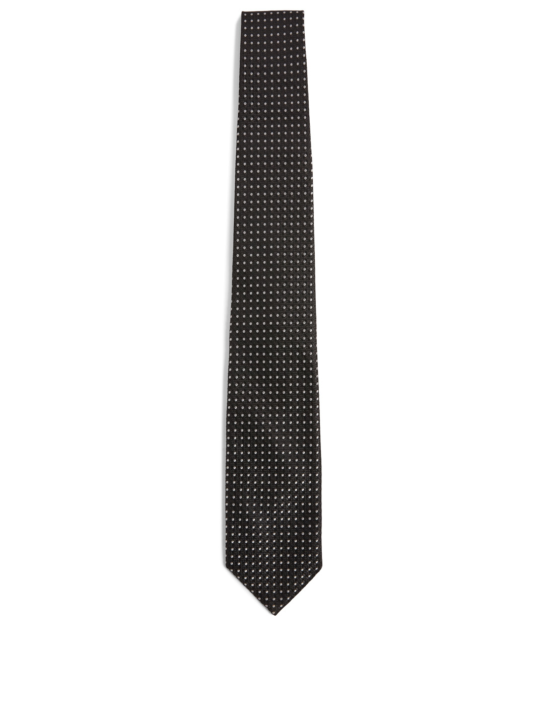 TOM FORD Silk-Blend Tie In Polka Dot Men's Black