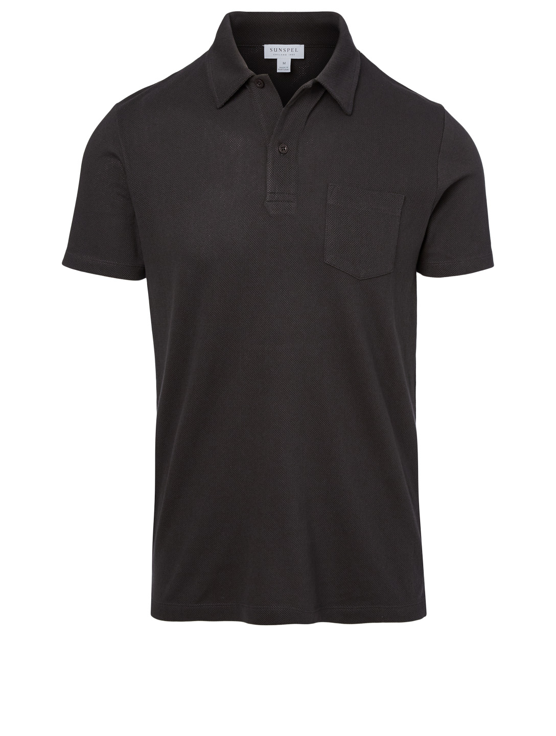 SUNSPEL Riviera Cotton Polo Shirt Men's Black