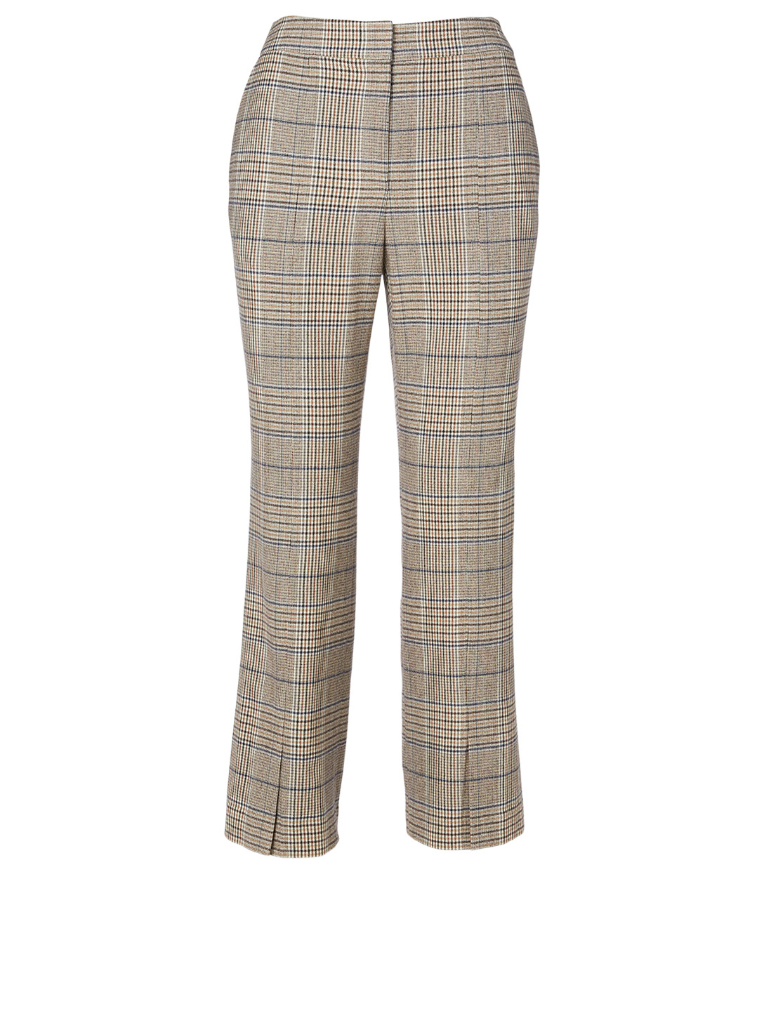 KUHO Wool-Blend Flare Pants In Plaid Print Women's Neutral