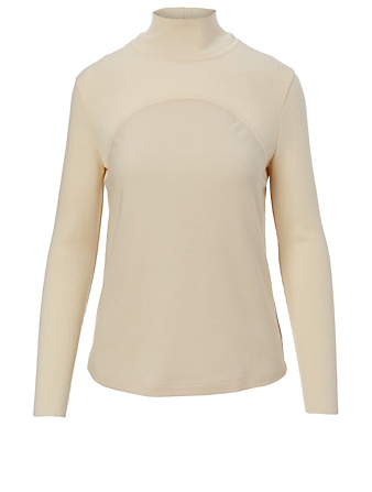 KUHO Wool Turtleneck Top Women's White