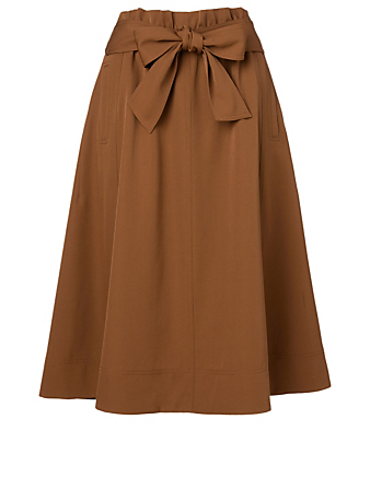 KUHO Wool-Blend Midi Skirt Women's Neutral