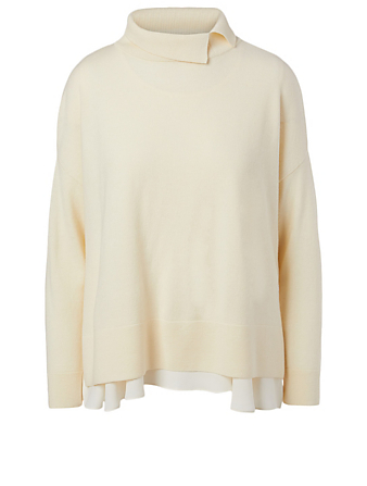 KUHO Wool And Cashmere Layered Top Women's White