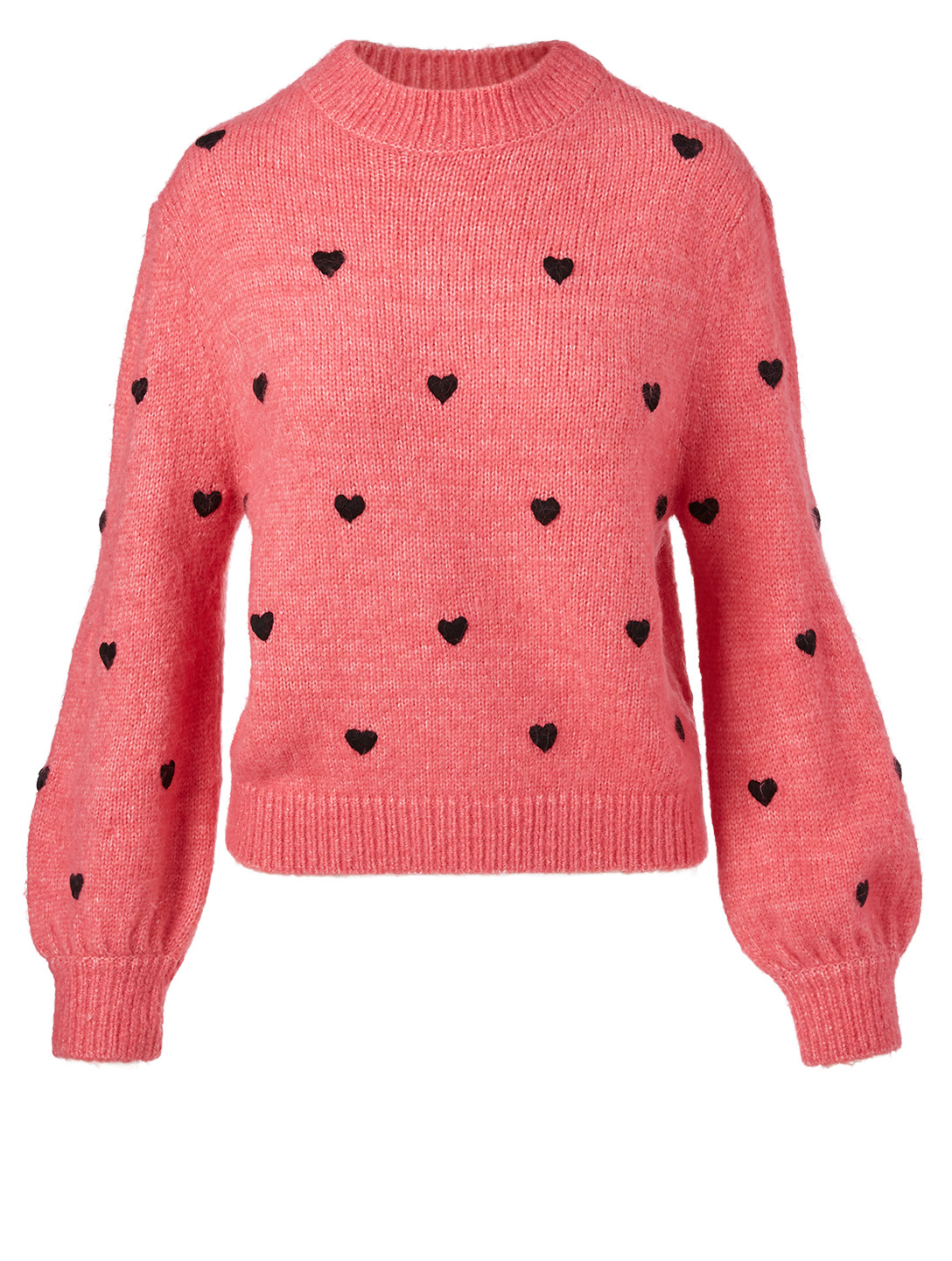RIXO Ariana Sweater In Polka Dot Print Women's Black
