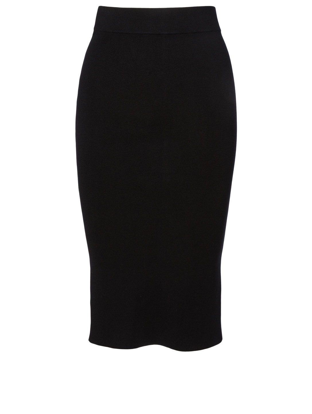 ALEXANDERWANG.T Bodycon Midi Logo Skirt Women's Black