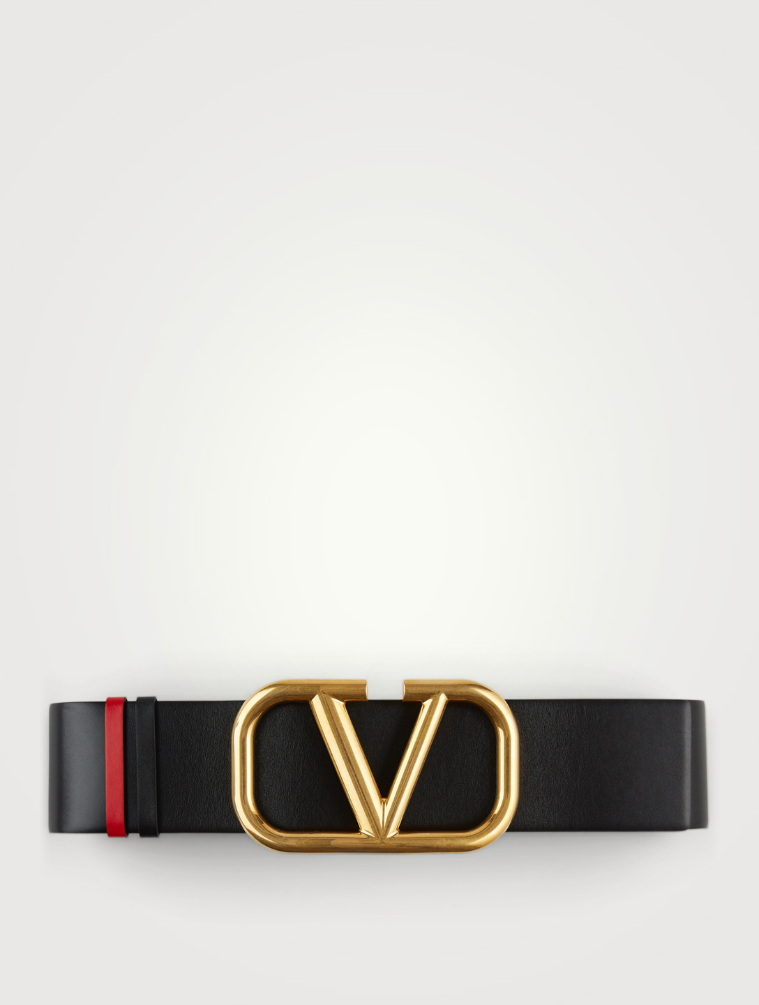 VALENTINO GARAVANI Leather VLogo Belt Women's Black
