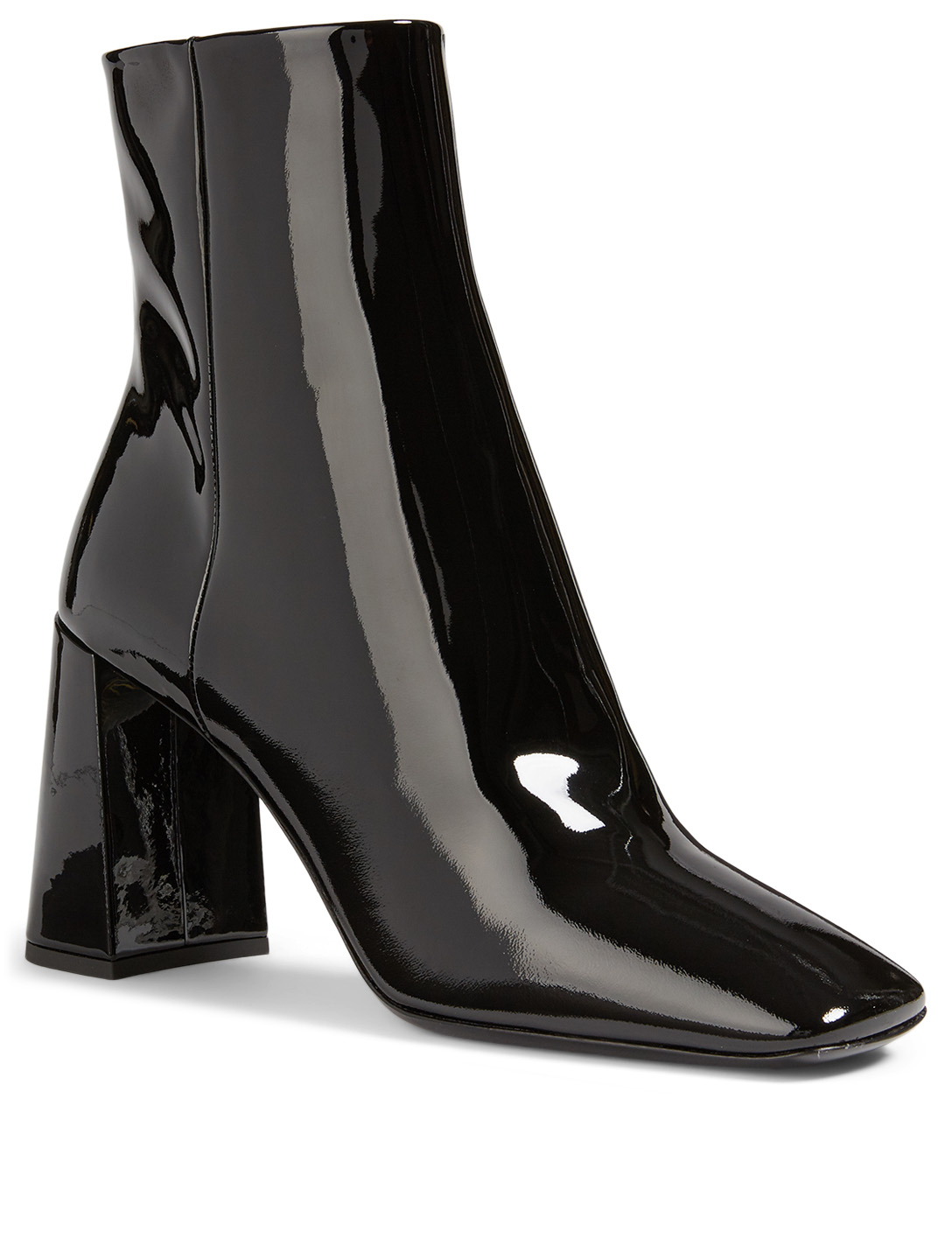 PRADA Patent Leather Ankle Boots Women's Black